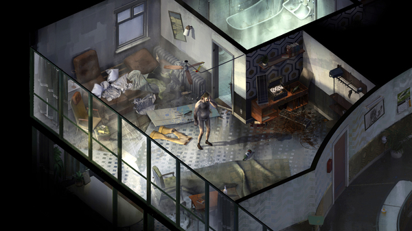 At the start of Disco Elysium, you wake up in a crummy hostel room, without your memories — and without your pants.